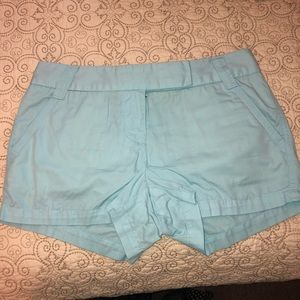 JCREW Tiffany Blue chino shorts